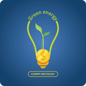 Green energy. Vector illustration